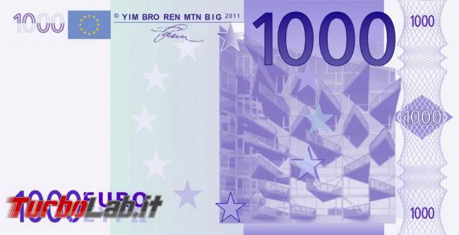 Quanto investire Bitcoin? 100 €, 500 €, 1.000 €? (video) - banconota 1000 euro