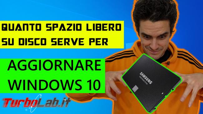 Quanto spazio libero disco serve aggiornare Windows 10? (requisito reale) - spazio libero su disco per aggiornare windows 10 spotlight