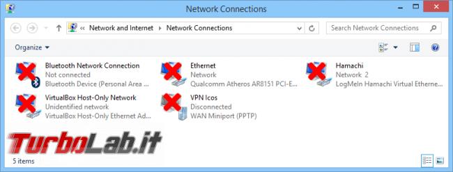Questa settimana TLI (03 agosto 2019) - disabilita connessioni rete windows