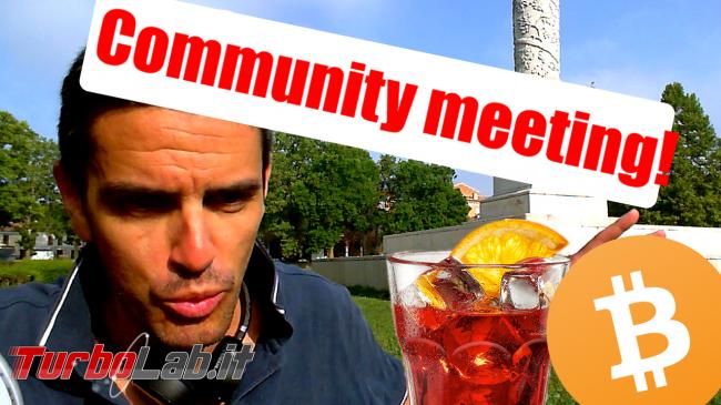 Questa settimana TLI (04 agosto 2018) - Community meeting