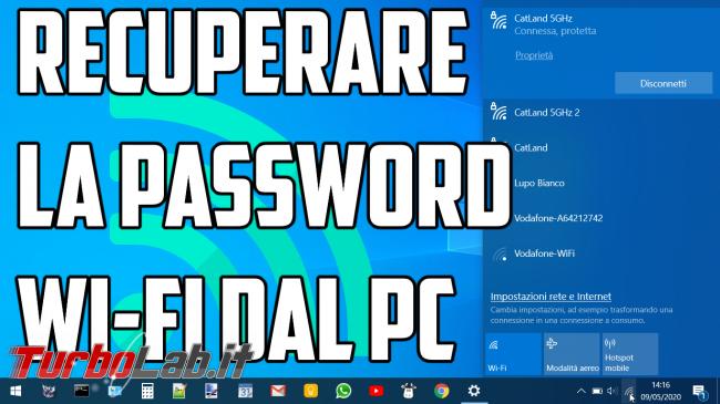 Questa settimana TLI (04 luglio 2020) - recuperare la password wi-fi dal pc spotlight
