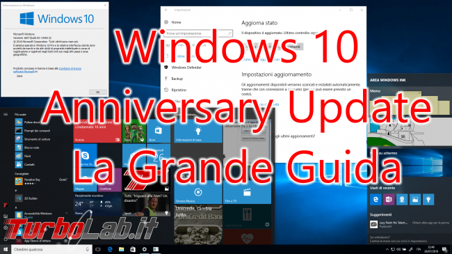 Questa settimana TLI (06 agosto 2016) - windows 10 redstone spotlight