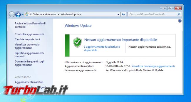 Questa settimana TLI (06 febbraio 2016) - windows 7 windows update