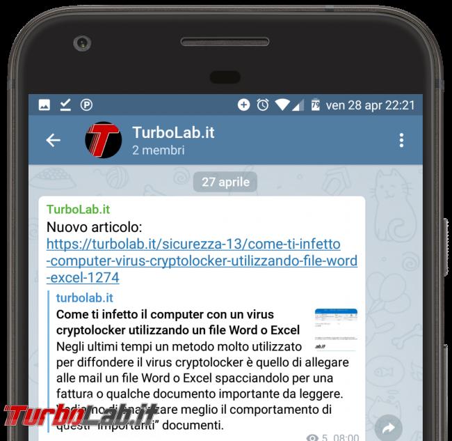 Questa settimana TLI (06 maggio 2017) - turbolab.it telegram