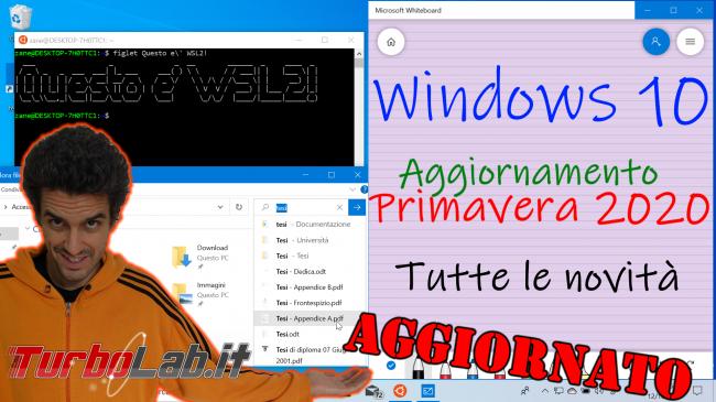 Questa settimana TLI (07 dicembre 2019) - windows 10 20h1 spotlight