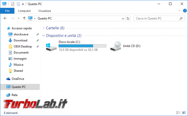 Questa settimana TLI (08 agosto 2015) - windows 10 esplora file explorer questo pc