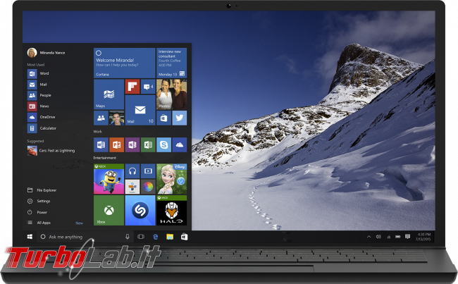 Questa settimana TLI (08 agosto 2015) - windows 10 notebook