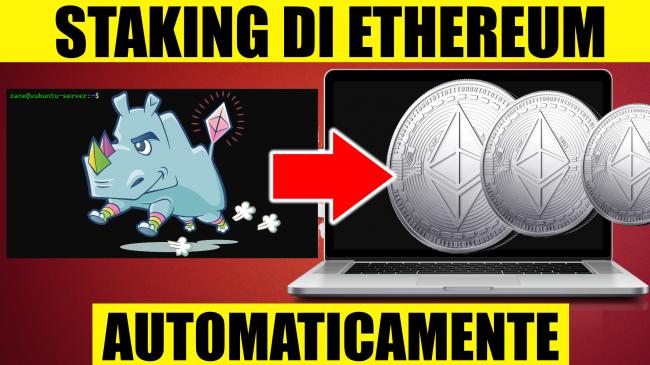 Questa settimana TLI (09 gennaio 2021) - script ethereum staking automatico spotlight