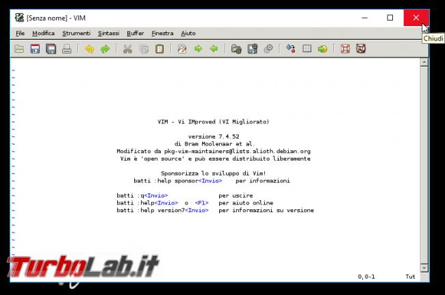 Questa settimana TLI (10 settembre 2016) - gvim windows 10 wsl