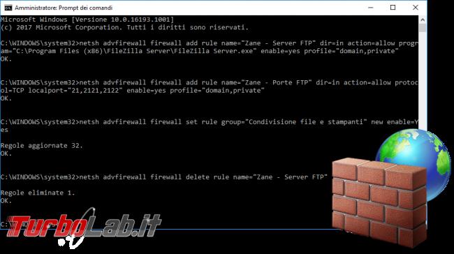 Questa settimana TLI (12 agosto 2017) - windows firewall linea di comando spotlight