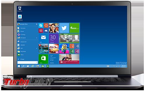 Questa settimana TLI (12 settembre 2015) - windows 10 notebook