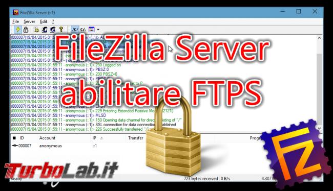 Questa settimana TLI (13 febbraio 2016) - filezilla server tls ssl spotlight
