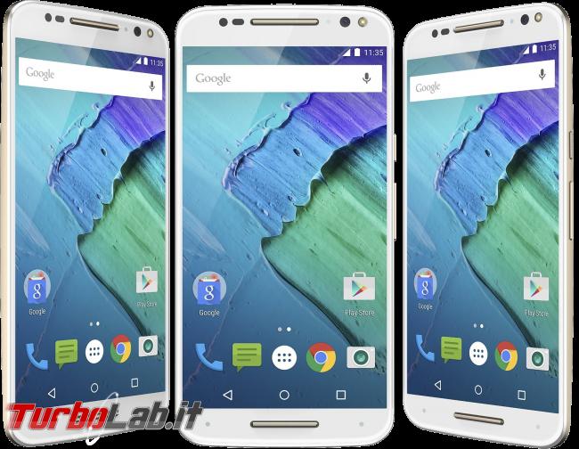 Questa settimana TLI (14 novembre 2015) - Motorola Moto X fronts