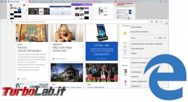 Questa settimana TLI (15 aprile 2017) - Microsoft edge windows 10 1703 creators update