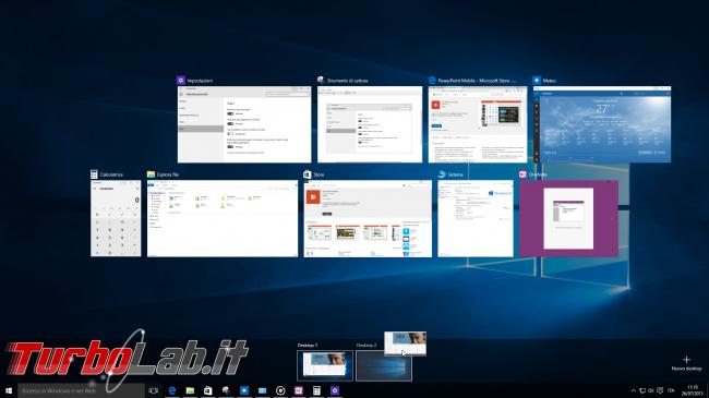 Questa settimana TLI (18 luglio 2015) - windows 10 desktop virtuali