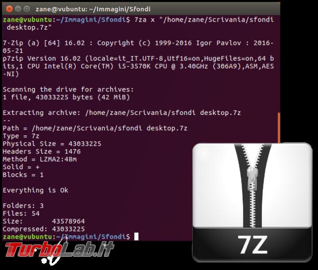 Questa settimana TLI (25 agosto 2018) - linux 7-Zip spotlight