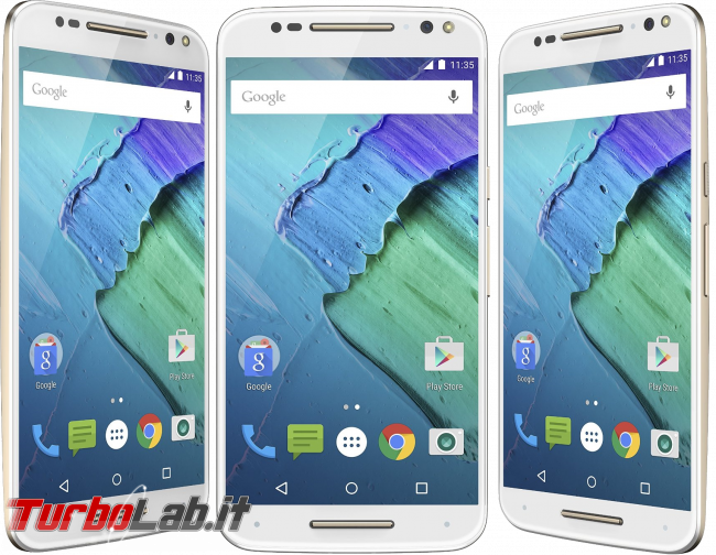 Questa settimana TLI (26 dicembre 2015) - Motorola Moto X fronts