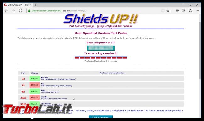 Questa settimana TLI (26 novembre 2016) - shields up port open