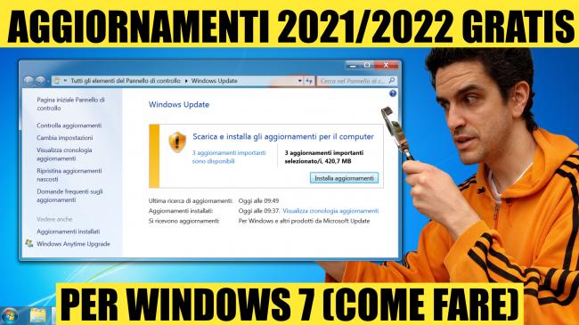 Questa settimana TLI (27 febbraio 2021) - aggiornamenti esu windows 7 gratis 2021-2022 spotlight