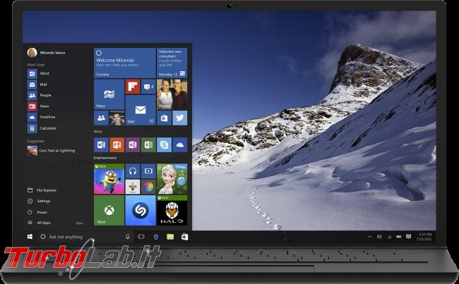 Questa settimana TLI (27 giugno 2015) - windows 10 notebook