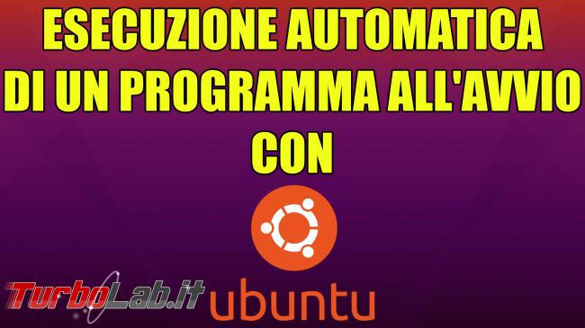 Questa settimana TLI (27 marzo 2021) - esecuzione automatica ubuntu