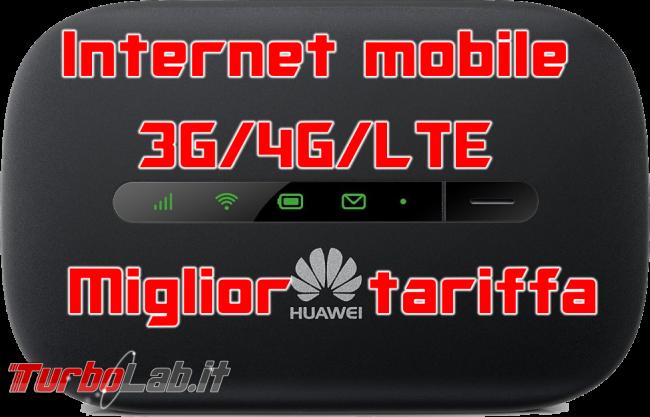 Questa settimana TLI (28 gennaio 2017) - miglior tariffa internet mobile 3g 34 lte spotlight
