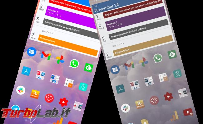 Questa settimana TLI (28 novembre 2020) - android colori spenti