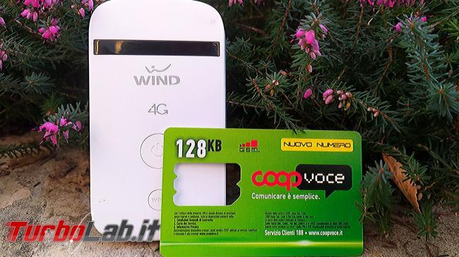 Questa settimana TLI (29 febbraio 2020) - Wind 4g router mobile hotspot coop voce