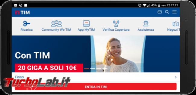 Questa settimana TLI (30 giugno 2018) - sito web tim smartphone
