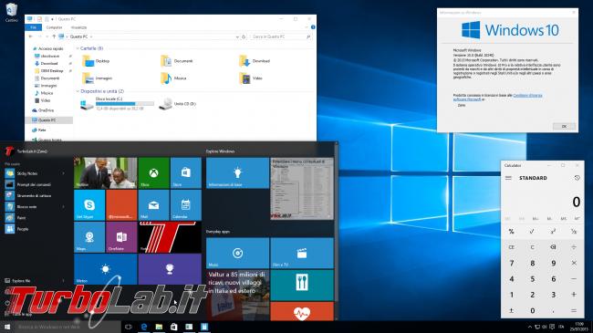 Questa settimana TLI (30 maggio 2015) - la grande guida a windows 10 TP