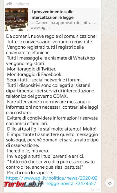 Questo decreto intercettazioni è bufala: messaggi sono sicuro - FrShot_1585216469