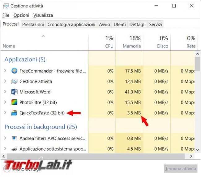 QuickTextPaste permette incollare qualsiasi testo predefinito schermate programmi Windows