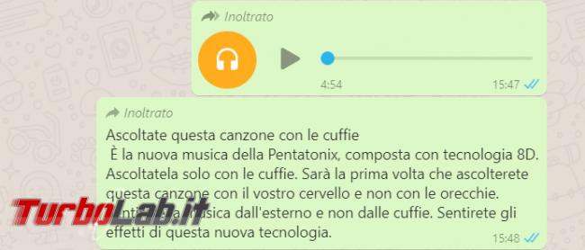 """""""Ascoltate questa canzone cuffie"""": WhatsApp spopola moda musica 8D - FrShot_1585325246"""