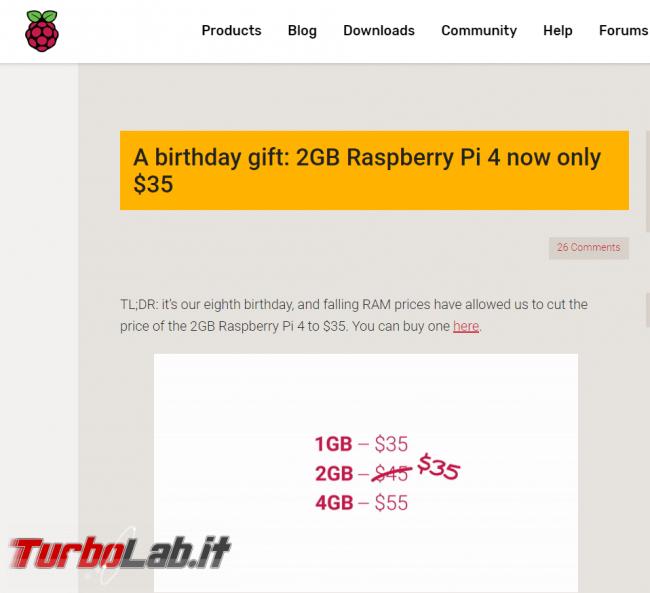 Raspberry Pi 4 soli 35 dollari festeggiare compleanno - FrShot_1582823455