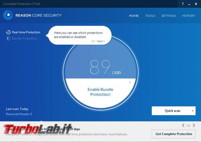 Reason Core Security l'anti-malware