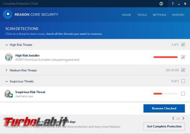 Reason Core Security l'anti-malware