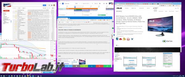"""Recensione Asus MX34VQ: mi sono innamorato questo monitor / display 34 pollici ultrawide """"quasi-4K"""" (video) - Mobile_zShot_1533134542"""