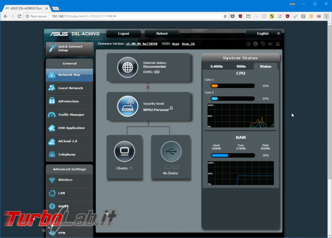 Recensione modem/router Asus DSL-AC68VG: massima potenza fascia alta (video) - Mobile_zShot_1533212242