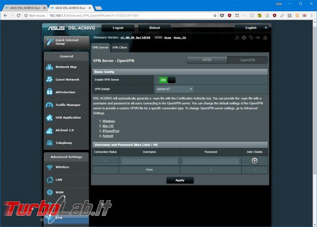 Recensione modem/router Asus DSL-AC68VG: massima potenza fascia alta (video) - Mobile_zShot_1533213018