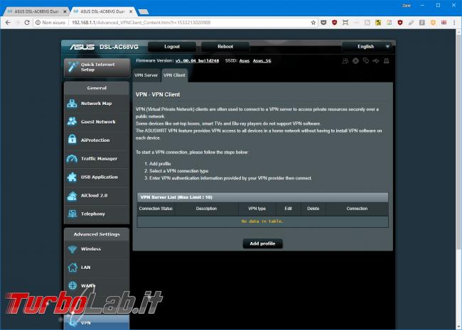 Recensione modem/router Asus DSL-AC68VG: massima potenza fascia alta (video) - Mobile_zShot_1533213049