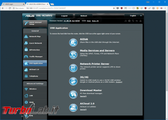 Recensione modem/router Asus DSL-AC68VG: massima potenza fascia alta (video) - Mobile_zShot_1533214230