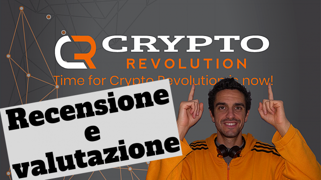 Recensione / review CryptoRevolutiontime: piattaforma integrata formazione, trading, cloud mining, stake pooling gestione MasterNode (video) - cryptorevolution spotlight