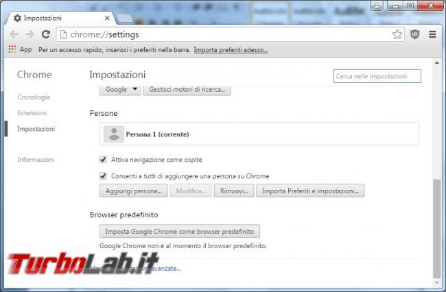 Recuperare password dimenticate Chrome