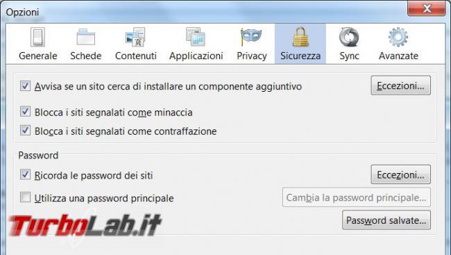 Recuperare password dimenticate Firefox