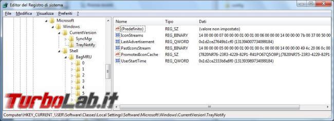 registro configurazione Windows, come modificare, cancellare, inserire chiavi registro