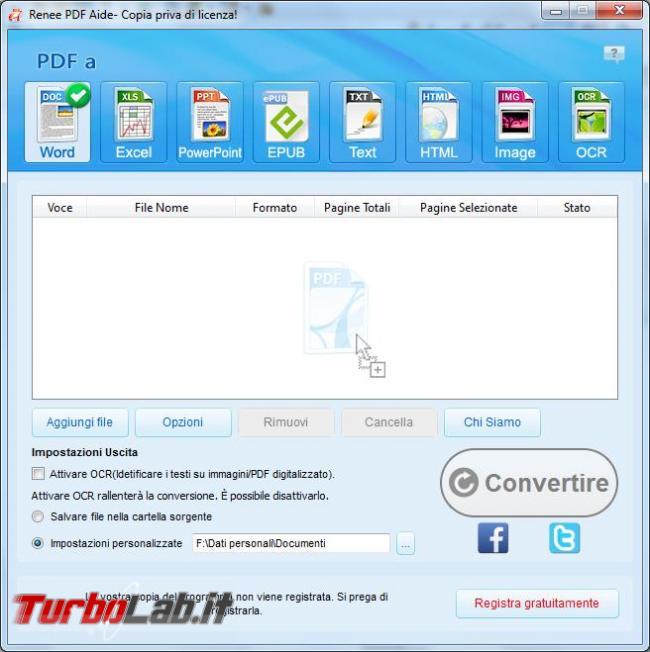 Renee PDF Aide converte file PDF formati diversi modificabili