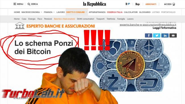 """Repubblica """" schema Ponzi Bitcoin"""" (video) - Lo schema Ponzi dei Bitcoin spotlight"""