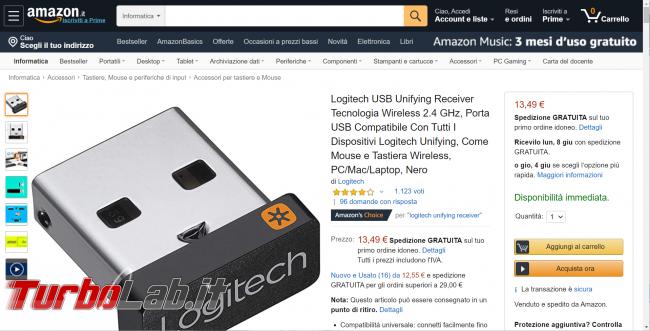 Ricevitore USB Logitech ricambio mouse tastiera senza fili Amazon: quale comprare, quale evitare