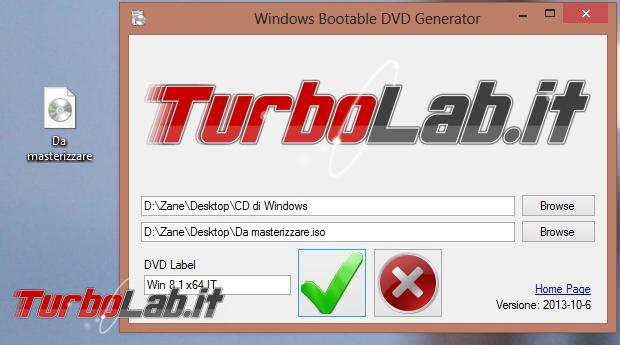 "Ricreare disco d'installazione ""Windows Bootable DVD Generator 2014"""