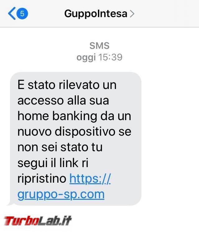 Rilevato accesso home banking nuovo dispositivo: SMS truffa GruppoIntesa - 116341670_1672779609550380_4359330378259438462_n